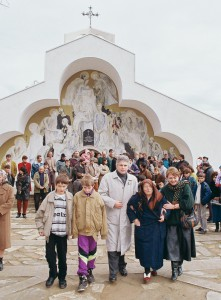 Ванга, Невена Коканова, Димитър Вълчев и неговите деца Петър и Кирил