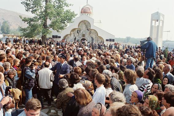 В деня на освещаването на храма – 14 октомври 1995 г.