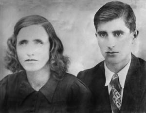 Ванга със съпруга си Димитър Гущеров