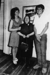 Ванга с Венета Митрева и Димитър Вълчев, 1969г.