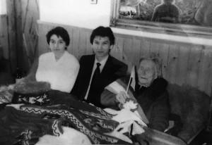 Kirsan Ilyumzhinov with Vanga and her acquaintance. 1994, Rupite